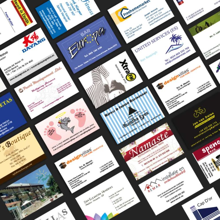 Marysan imprenta tarjetas de visita